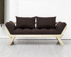 Convertible futon chocolat