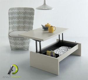 acheter table basse relevable. Black Bedroom Furniture Sets. Home Design Ideas