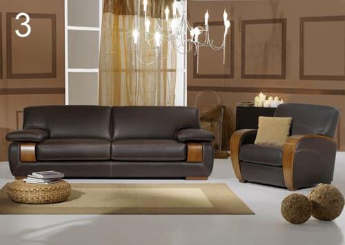 Un avenir pour le canap cuir et bois - Salon sans canape ...