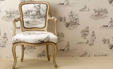 faites entrer la toile de jouy chez vous. Black Bedroom Furniture Sets. Home Design Ideas