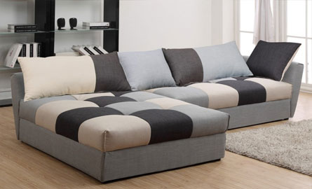 un canap d 39 angle original et modulable. Black Bedroom Furniture Sets. Home Design Ideas