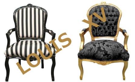 styl le fauteuil louis xv. Black Bedroom Furniture Sets. Home Design Ideas