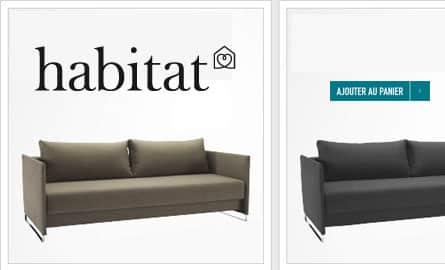 canap lit aux accoudoirs extra fins. Black Bedroom Furniture Sets. Home Design Ideas