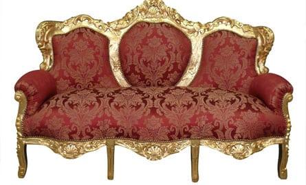 canap baroque art d co. Black Bedroom Furniture Sets. Home Design Ideas