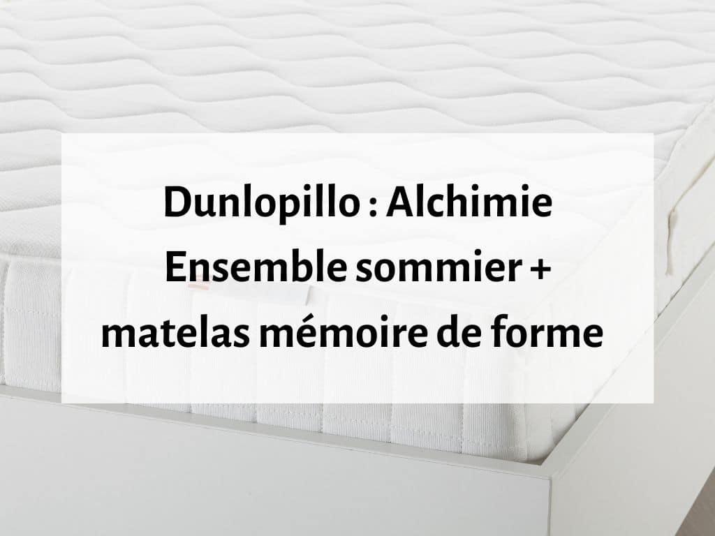Dunlopillo Alchimie Ensemble sommier et matelas mémoire de forme 2 places standard