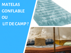 Choisir matelas gonflable ou lit de camp