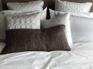 oreiller ou traversin de forme plate