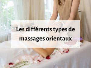 différents massages orientaux