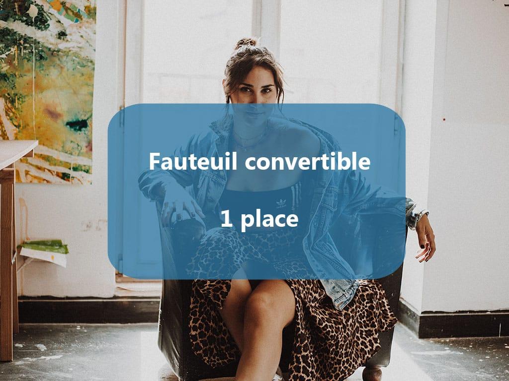 fauteuil convertible 1 place