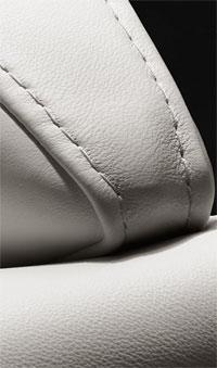 La beauté du cuir blanc