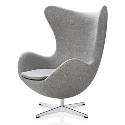 egg chair de jacobsen pour s 39 inspirer. Black Bedroom Furniture Sets. Home Design Ideas