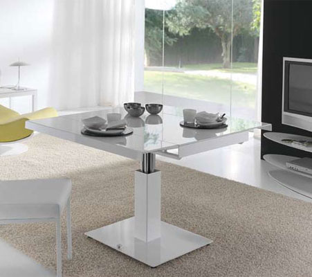Table ronde extensible ikea best table ikea with two for Table blanche extensible 12 personnes