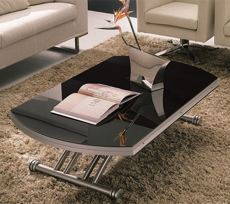 Table basse relevable bien la choisir for Table de salon relevable