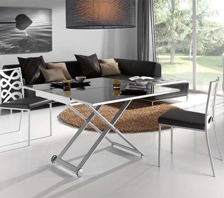 Table basse relevable bien la choisir for Table basse up and down