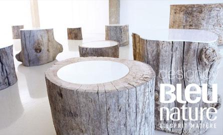 Bout de canapé en bois blanc