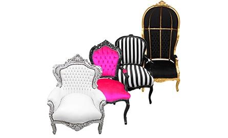 Des fauteuils baroques hauts en couleurs 1