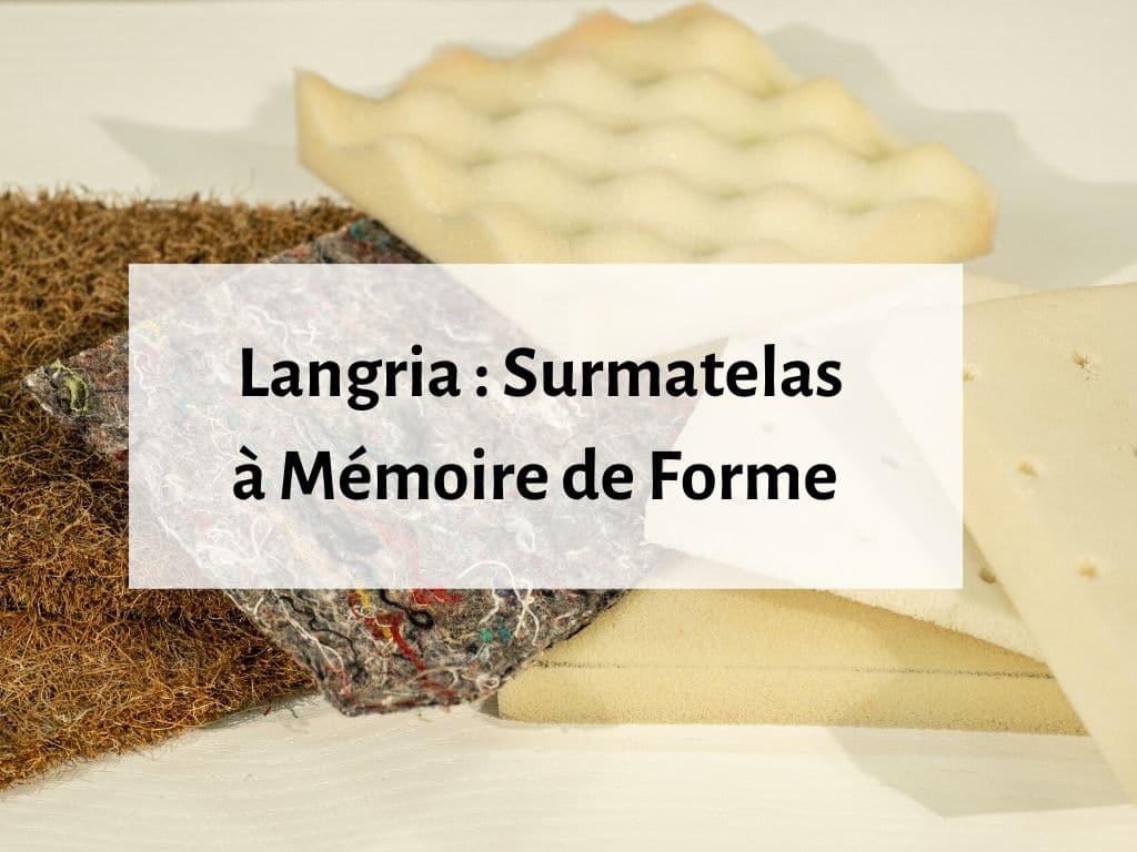 Surmatelas en mousse à mémoire de forme Langria