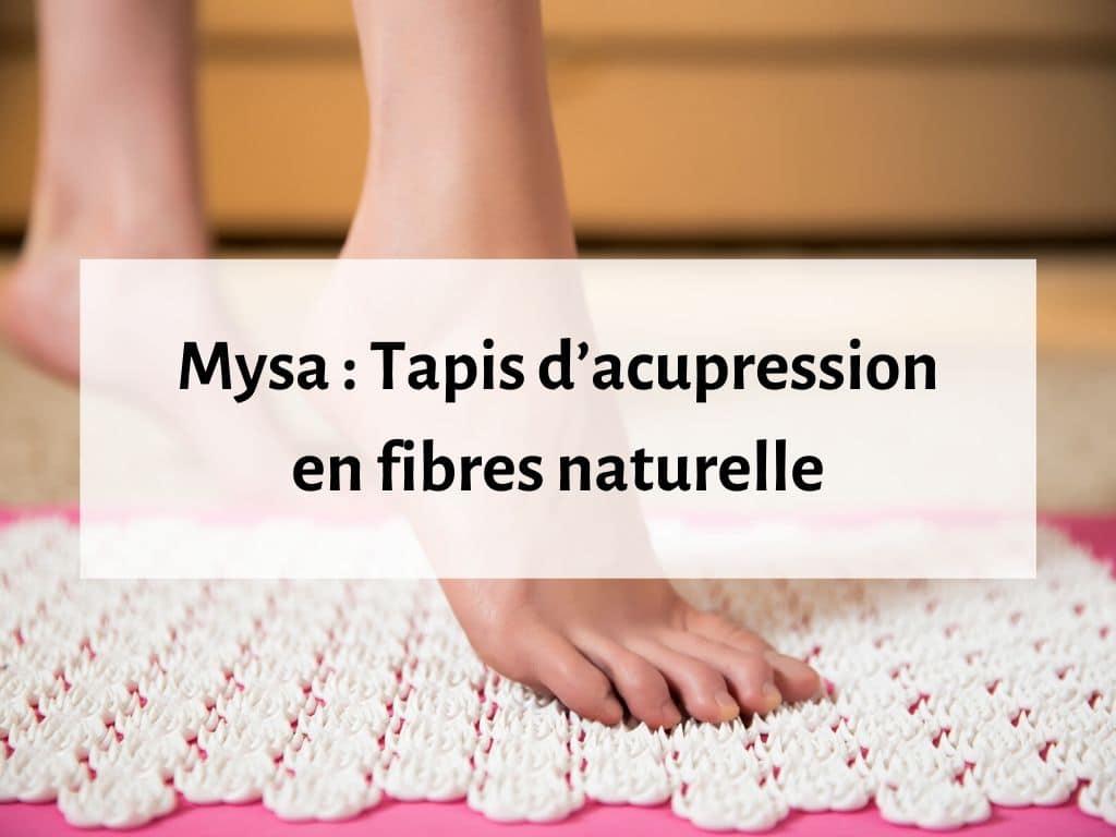 Mysa tapis d'acupression de matériau naturel