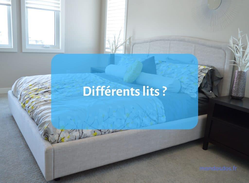 Différents types de lits