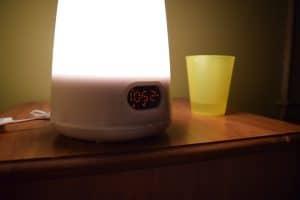 radio réveil avec lumière